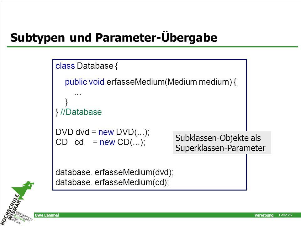 Subtypen und Parameter-Übergabe