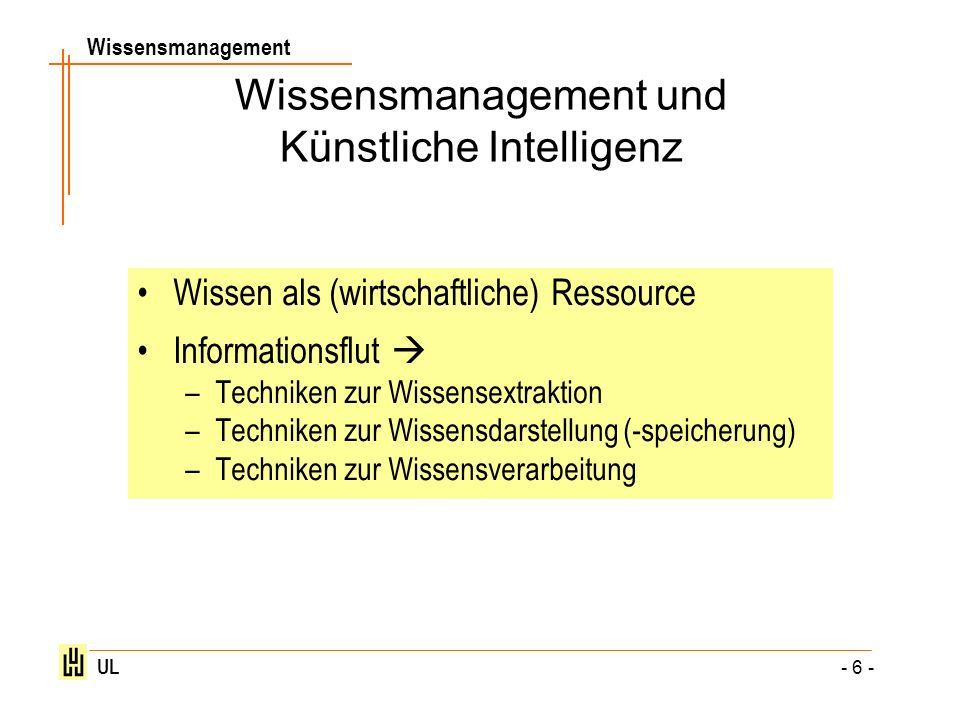 Wissensmanagement und Künstliche Intelligenz