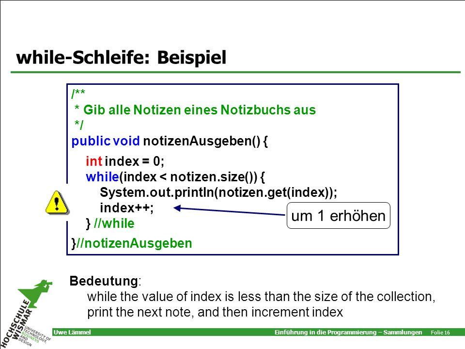 while-Schleife: Beispiel