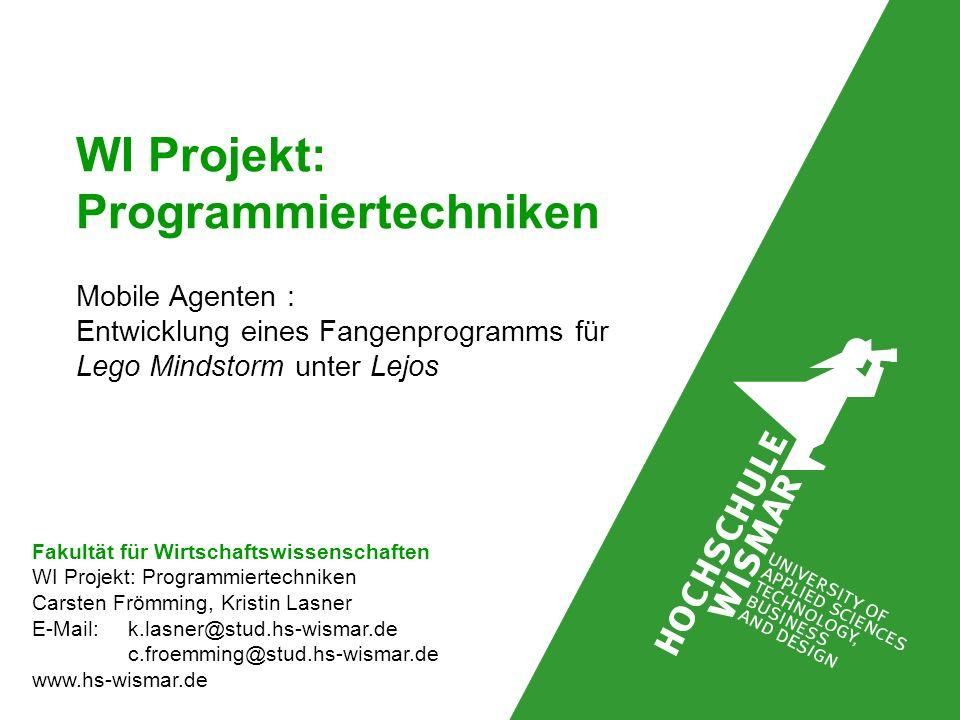 WI Projekt: Programmiertechniken