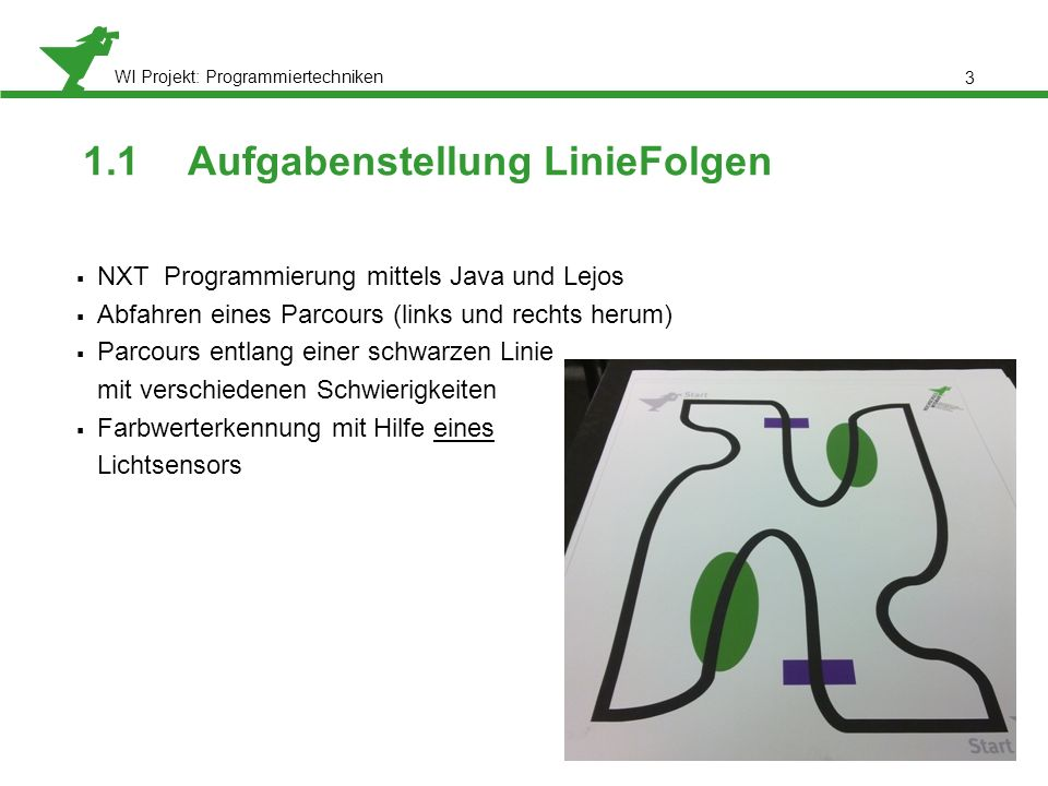 1.1 Aufgabenstellung LinieFolgen
