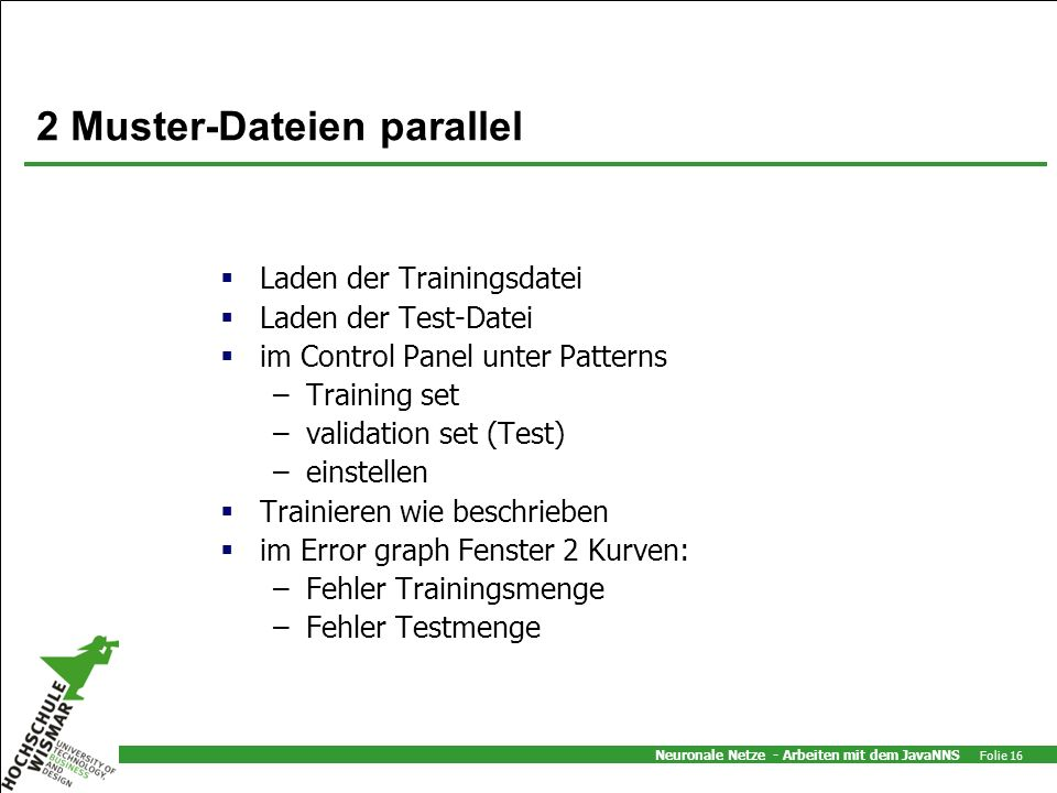 2 Muster-Dateien parallel