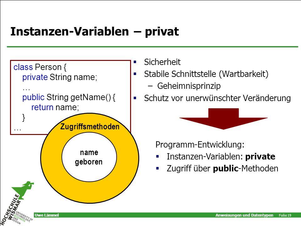 Instanzen-Variablen – privat