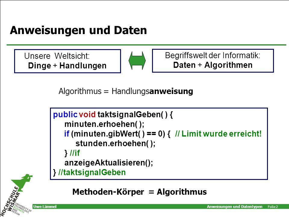 Methoden-Körper = Algorithmus