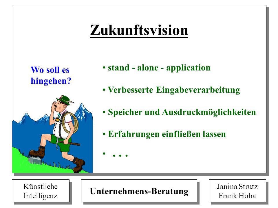 Zukunftsvision stand - alone - application Wo soll es hingehen