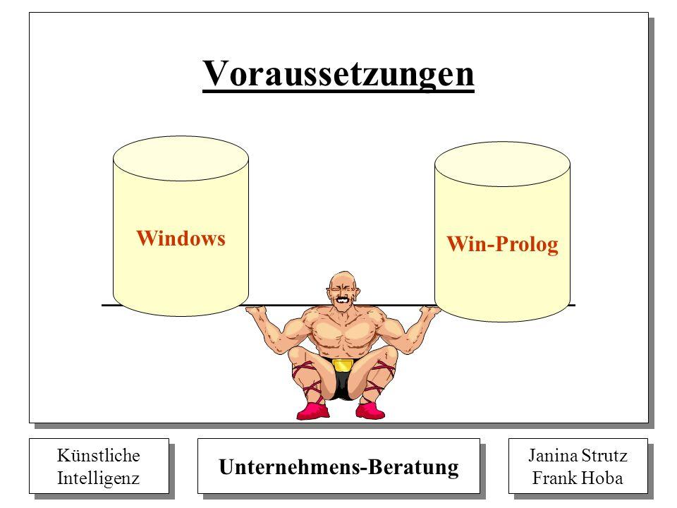 Voraussetzungen Windows Win-Prolog