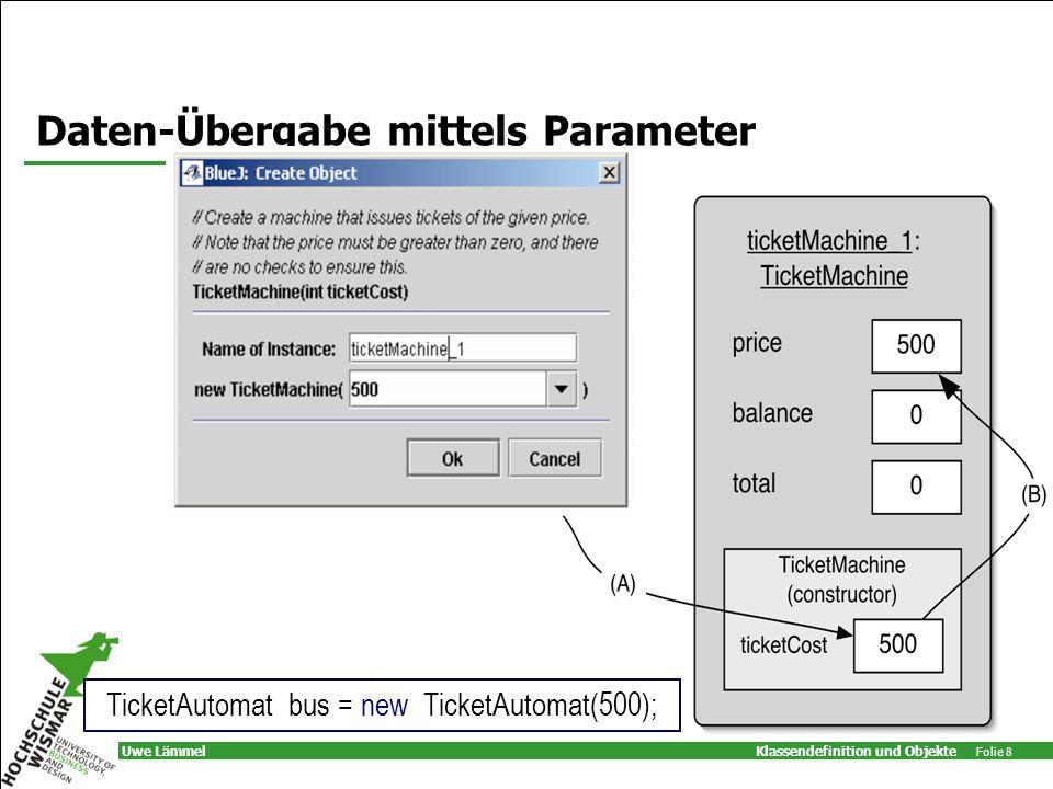 Daten-Übergabe mittels Parameter
