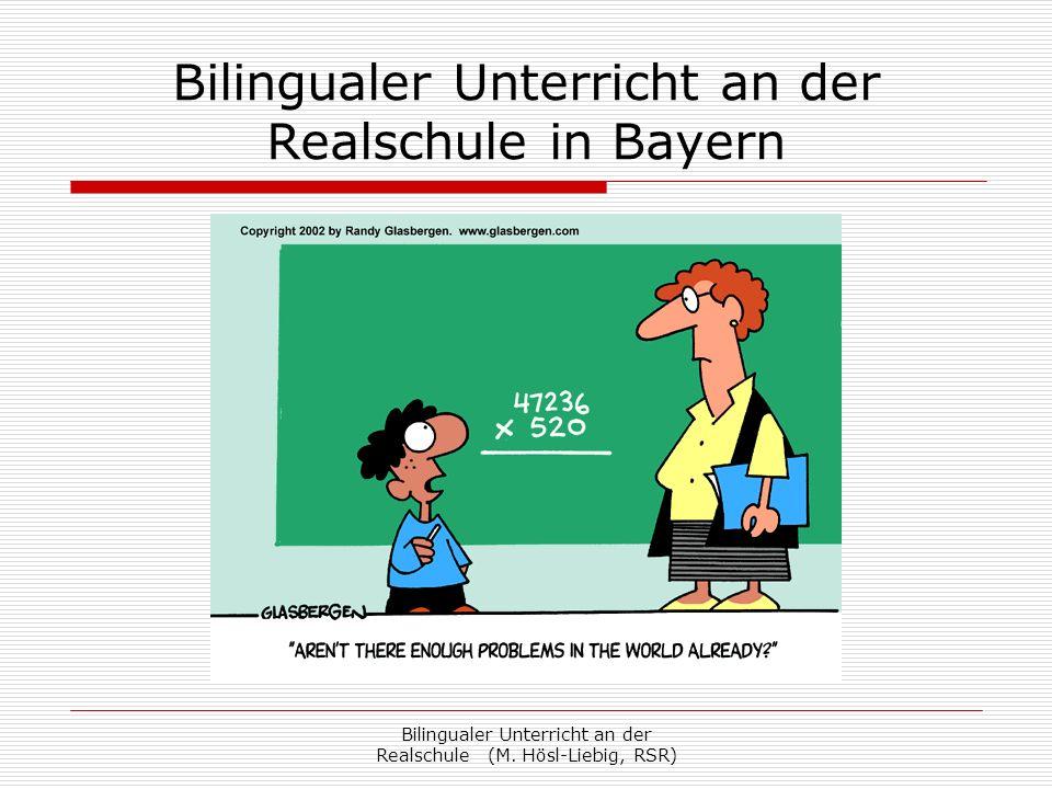 Bilingualer Unterricht an der Realschule in Bayern