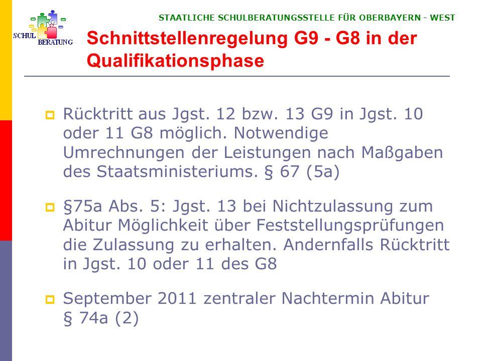 Neuerungen GSO 7 Jgst. 1. FS 3 stündig 5. Jgst. 30 + 1