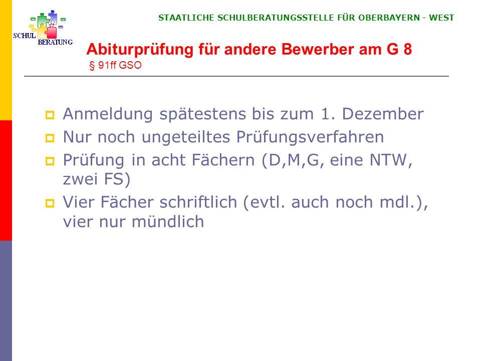 Nachweis von Latein Latinum im G8 nach mind. 5 Jahren L-Unterr. und mind. Note 4 im JZ der 10. Klasse.
