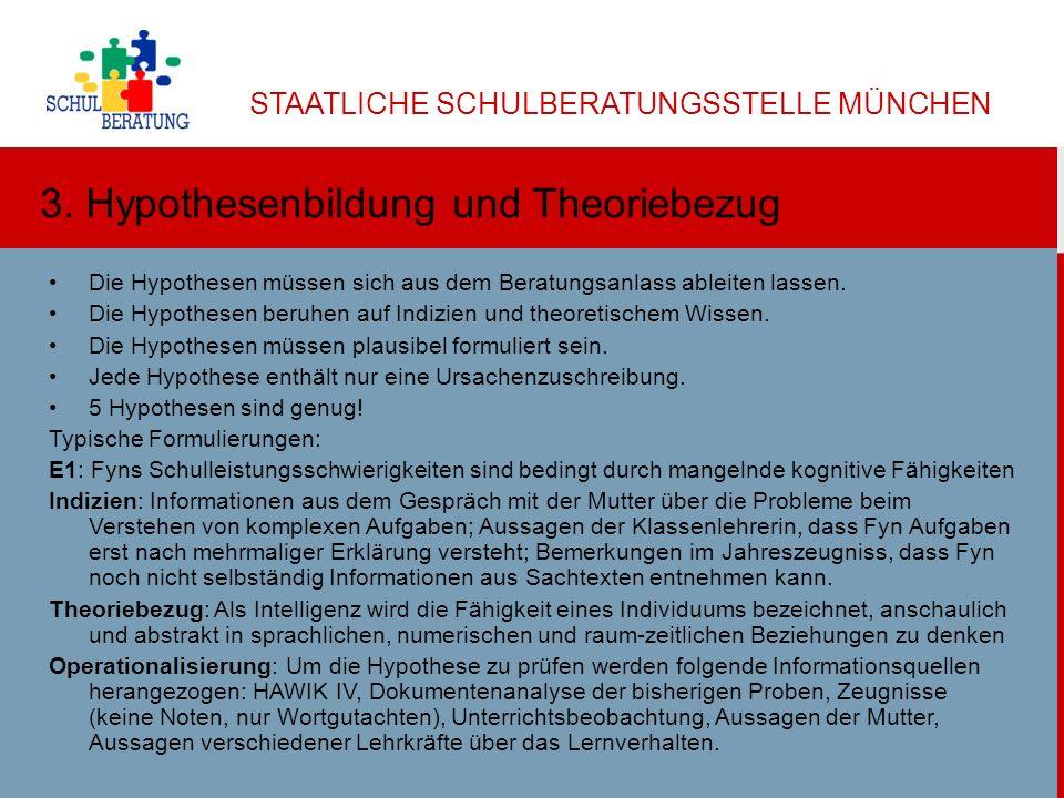 3. Hypothesenbildung und Theoriebezug