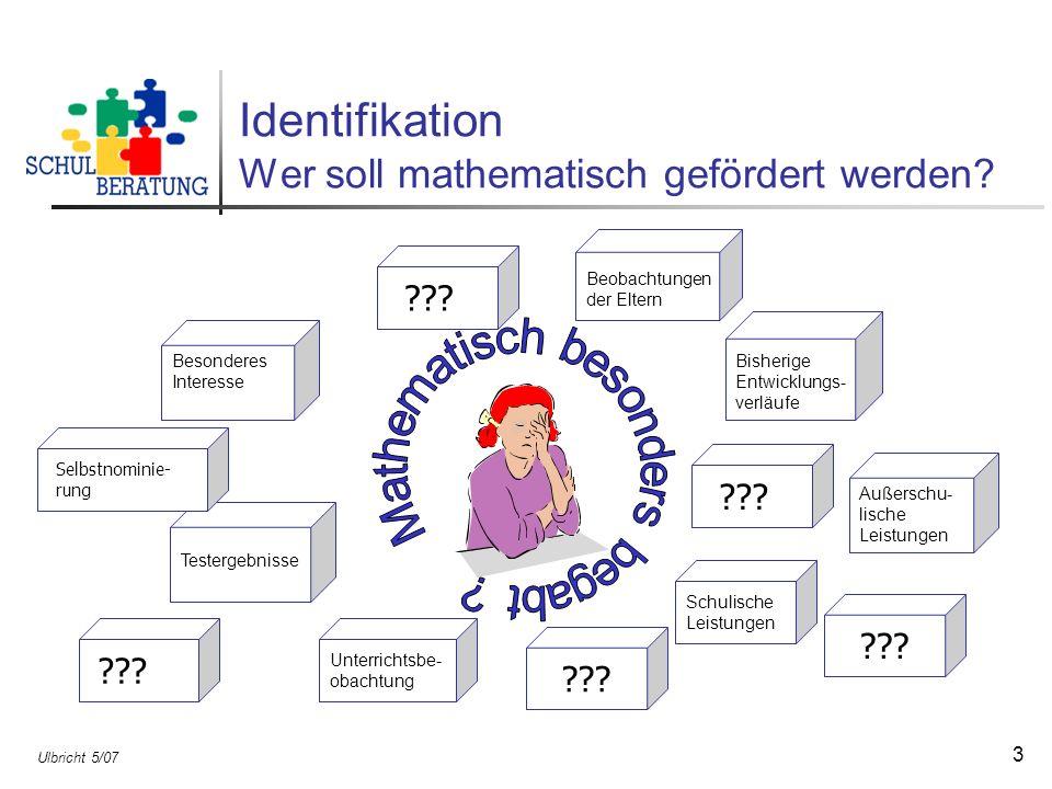 Identifikation Wer soll mathematisch gefördert werden