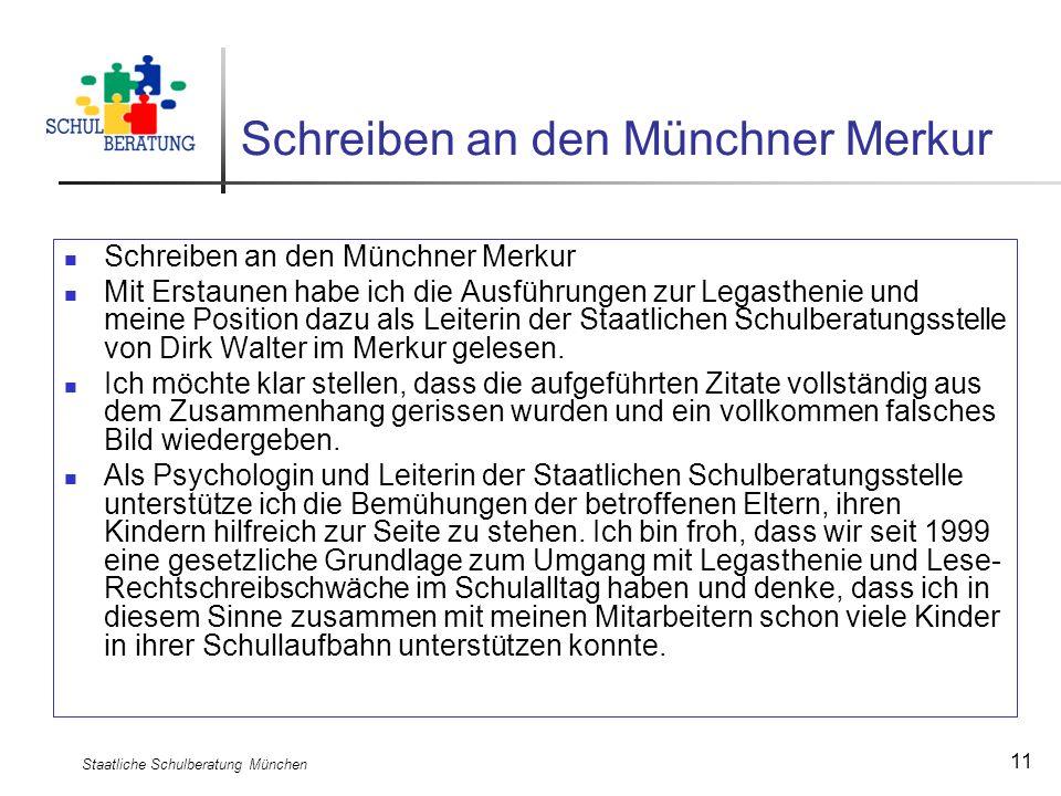 Schreiben an den Münchner Merkur