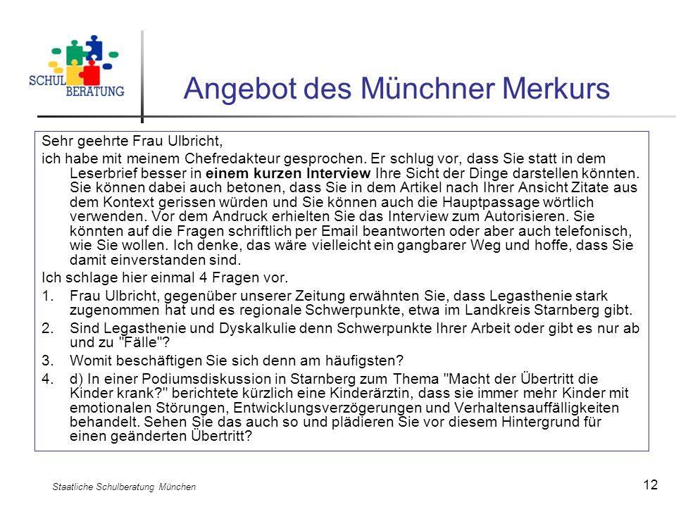 Angebot des Münchner Merkurs