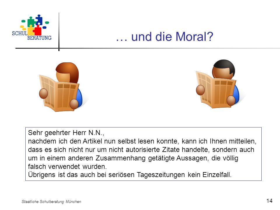 Staatliche Schulberatung München