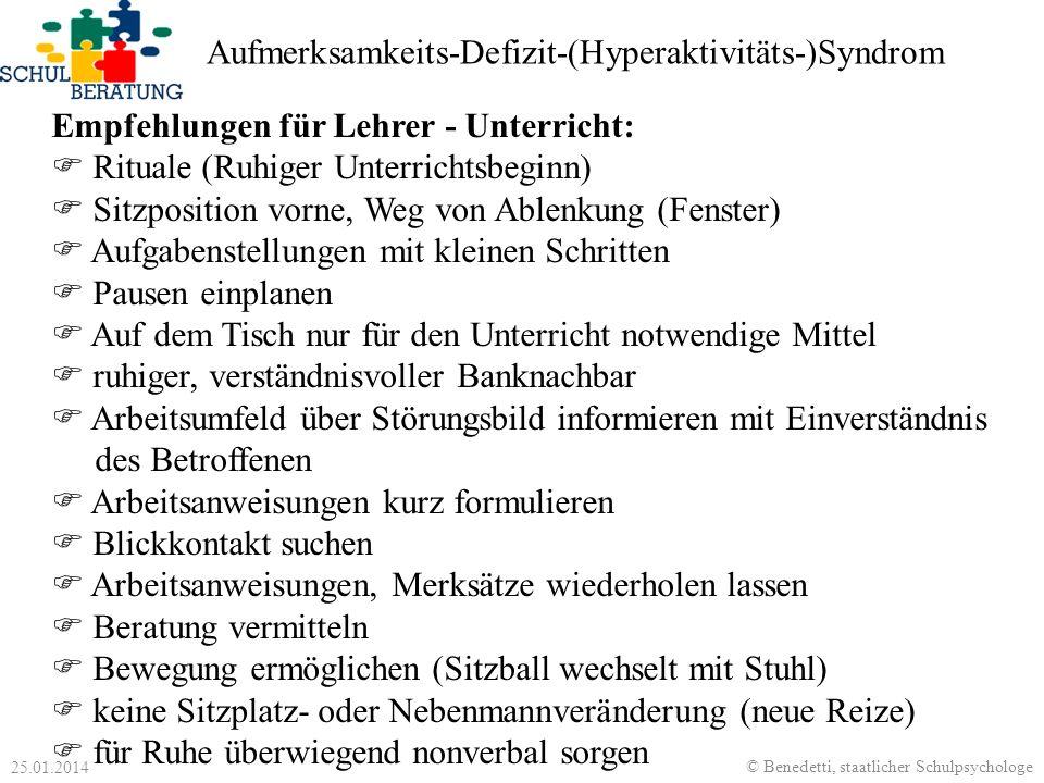 Aufmerksamkeits-Defizit-(Hyperaktivitäts-)Syndrom