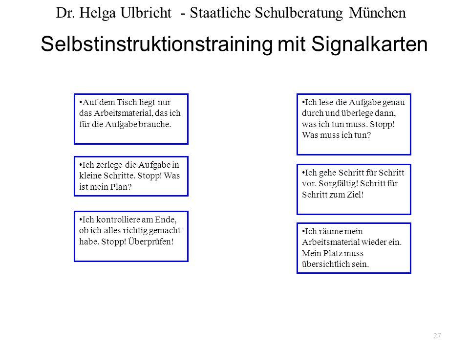 Selbstinstruktionstraining mit Signalkarten