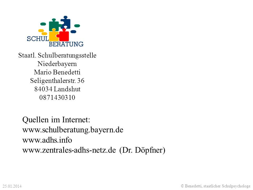 Staatl. Schulberatungsstelle Niederbayern