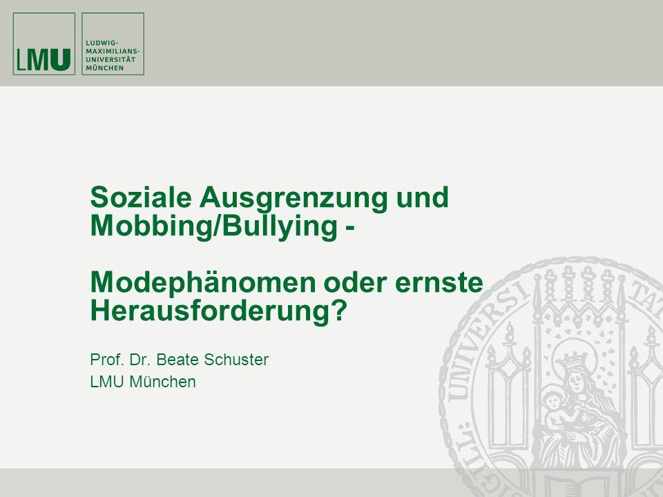 Prof. Dr. Beate Schuster LMU München