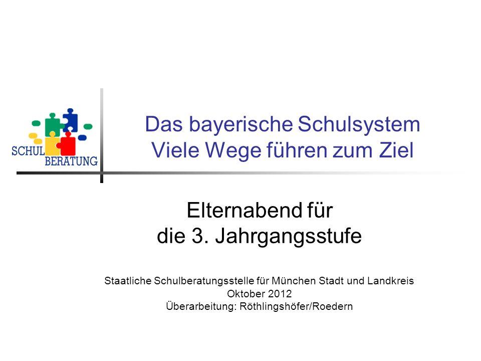 Das bayerische Schulsystem Viele Wege führen zum Ziel