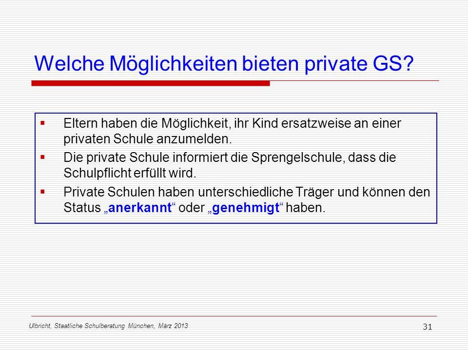 Welche Möglichkeiten bieten private GS