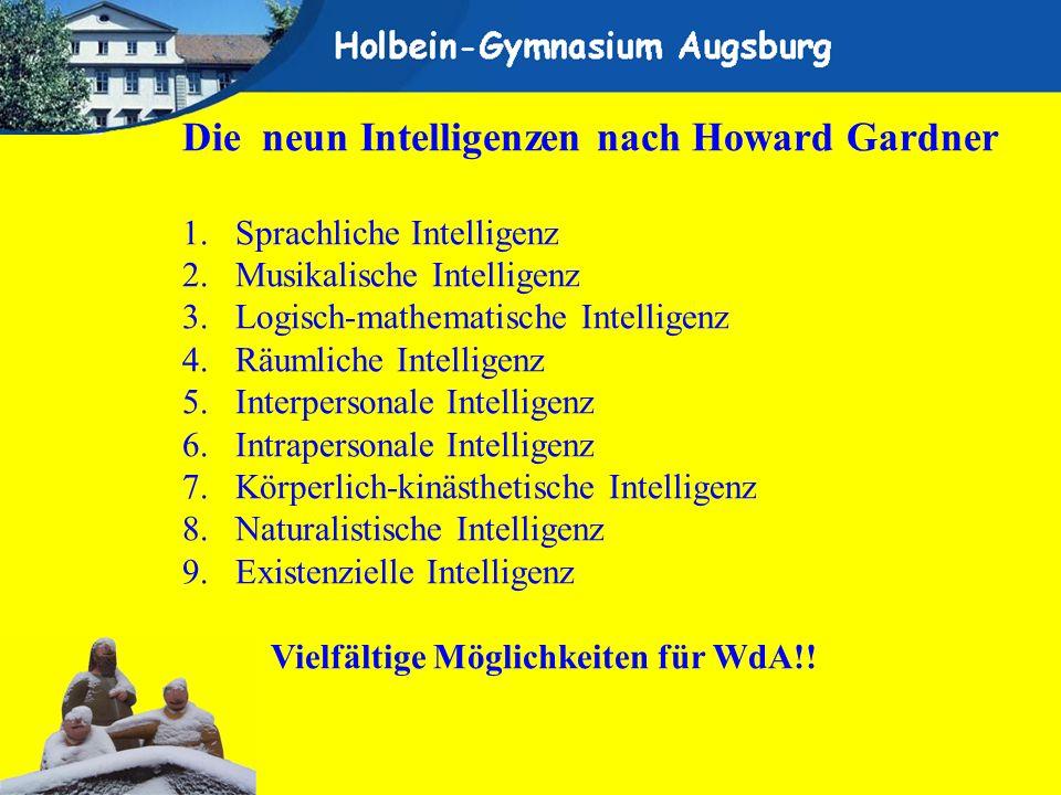 Die neun Intelligenzen nach Howard Gardner