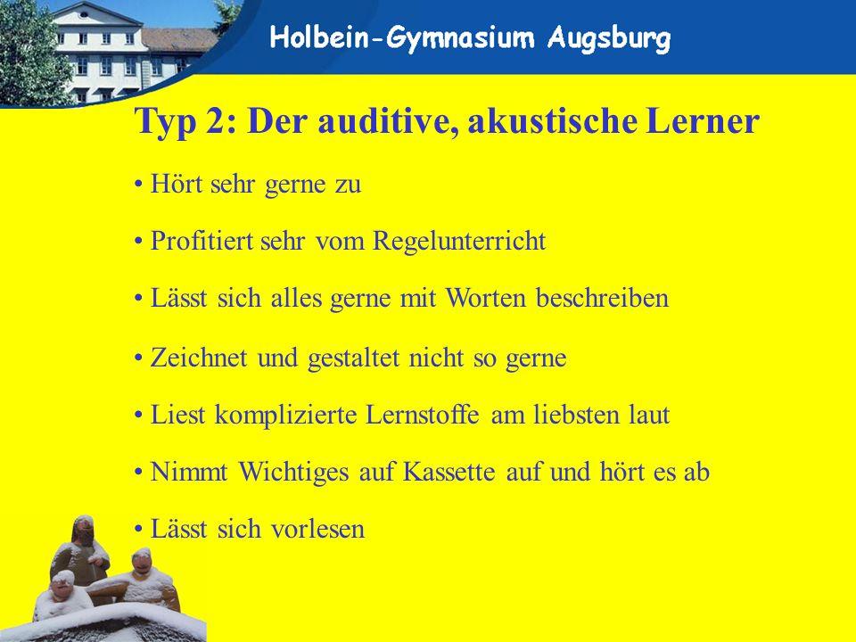 Typ 2: Der auditive, akustische Lerner