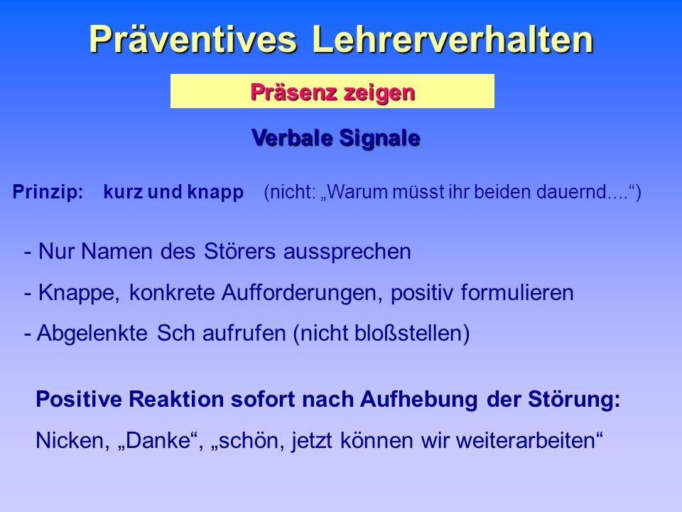 Präventives Lehrerverhalten