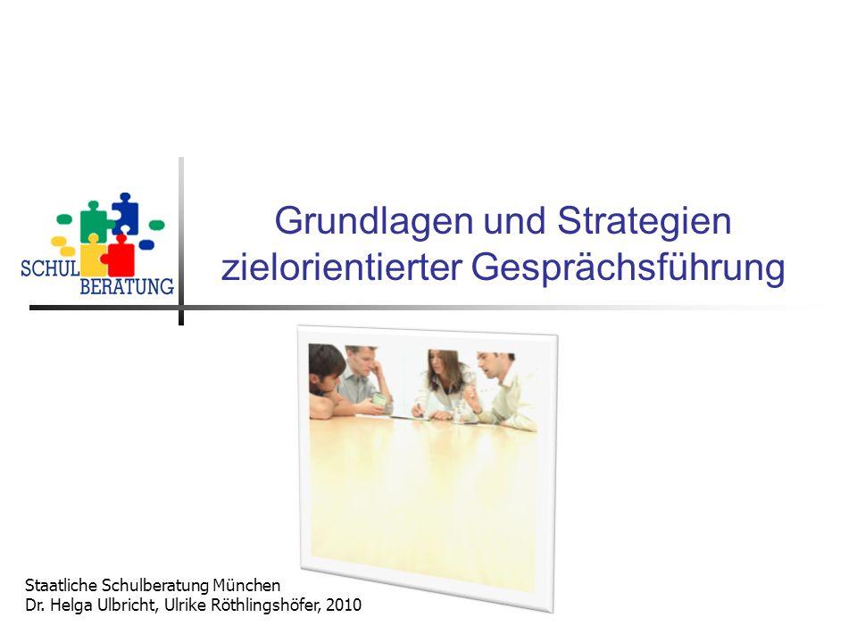 Grundlagen und Strategien zielorientierter Gesprächsführung
