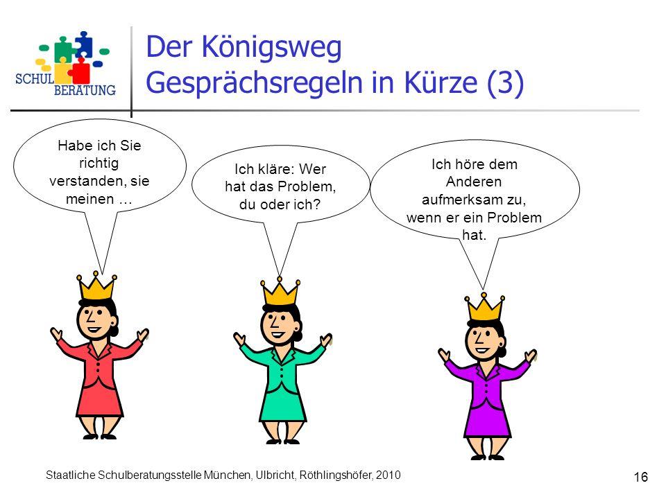 Gesprächsregeln in Kürze (3)