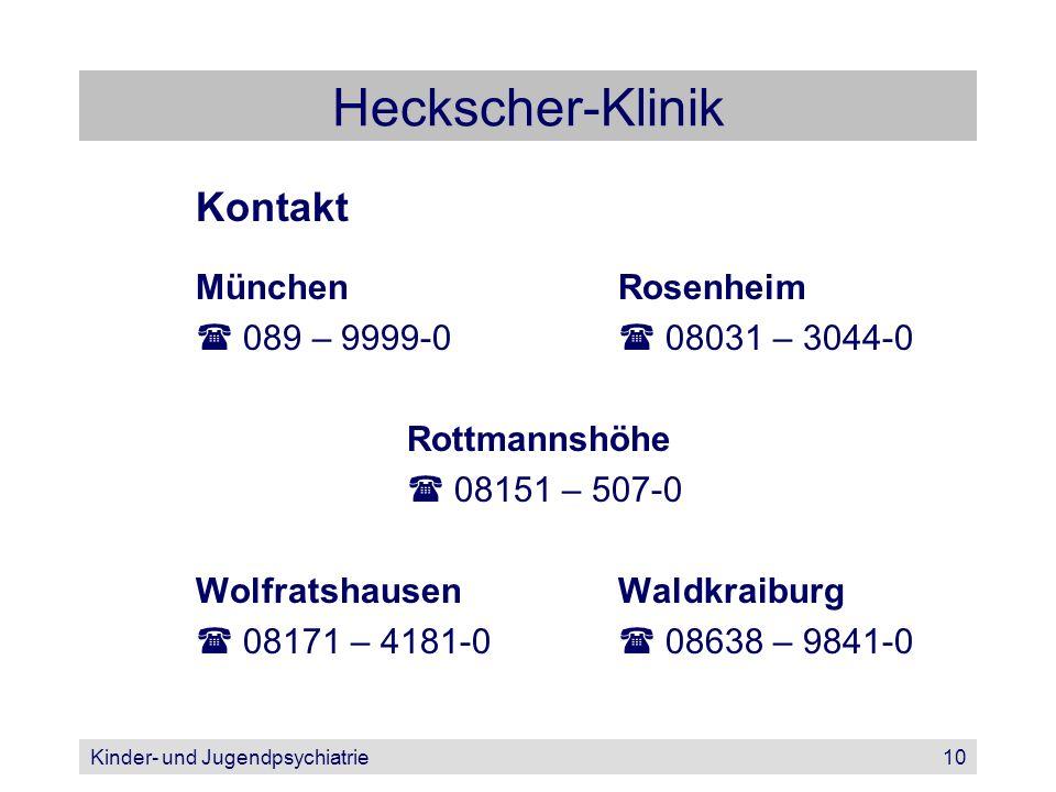 Heckscher-Klinik Kontakt München Rosenheim