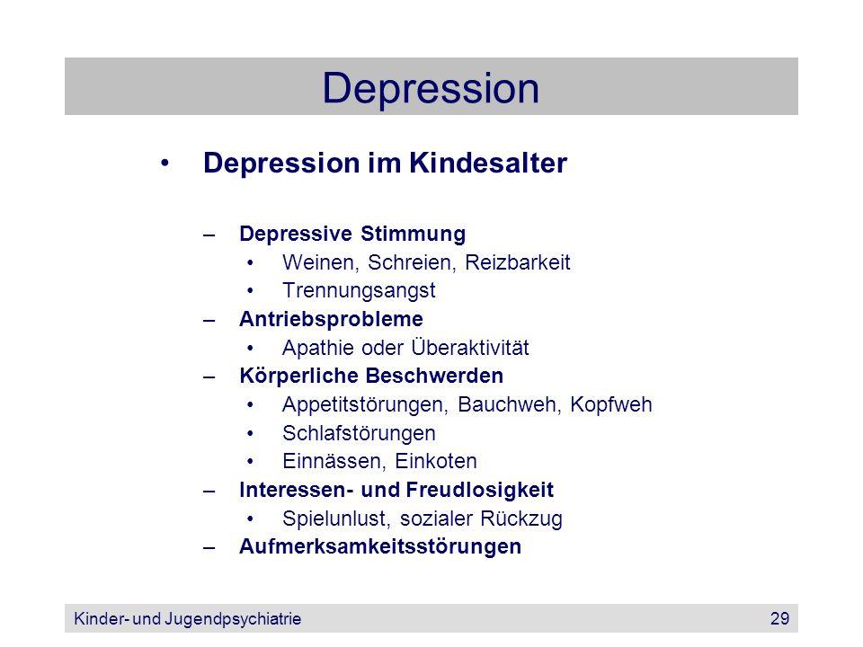 Depression Depression im Kindesalter Depressive Stimmung