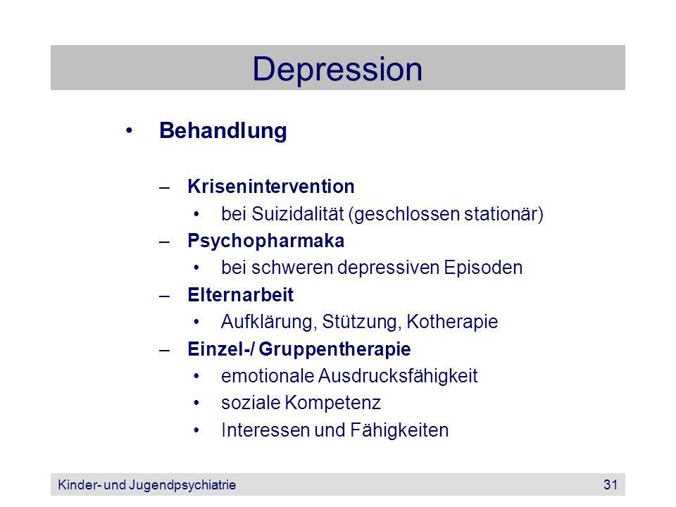 Depression Behandlung Krisenintervention