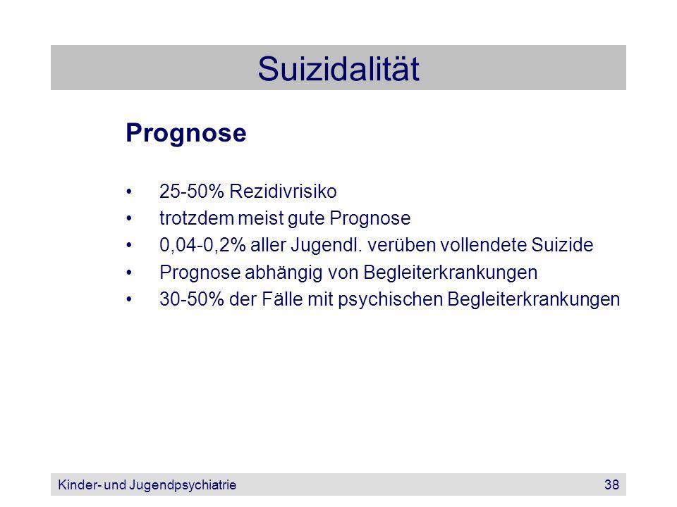 Suizidalität Prognose 25-50% Rezidivrisiko