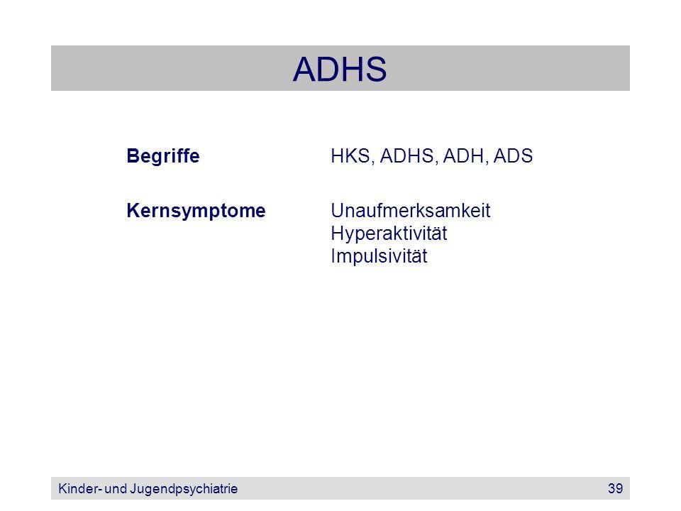 ADHS Begriffe HKS, ADHS, ADH, ADS