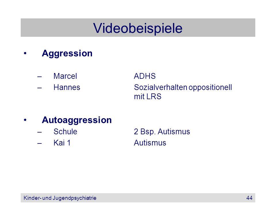 Videobeispiele Aggression Autoaggression Marcel ADHS