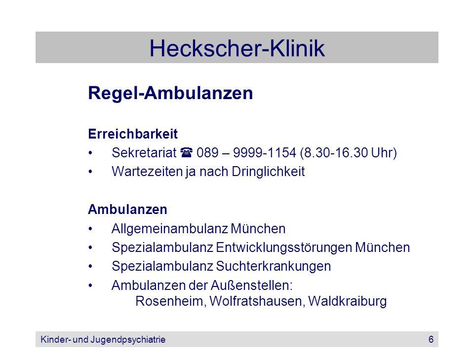 Heckscher-Klinik Regel-Ambulanzen Erreichbarkeit