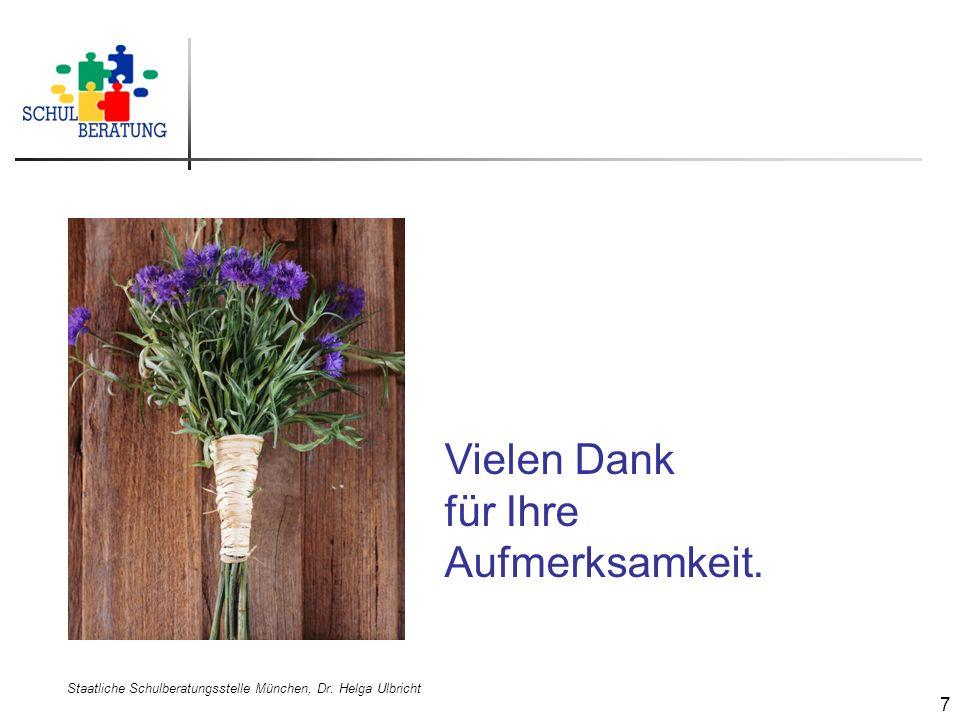 Staatliche Schulberatungsstelle München, Dr. Helga Ulbricht