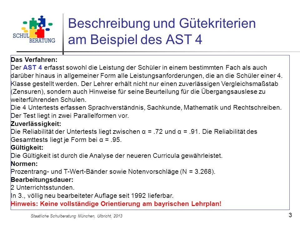 Beschreibung und Gütekriterien am Beispiel des AST 4
