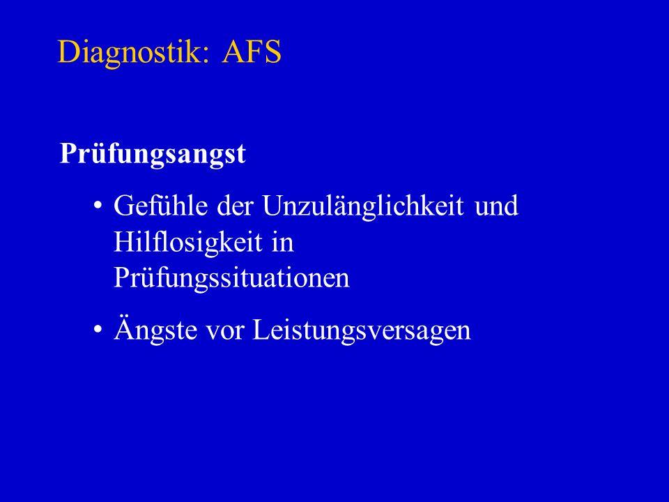 Diagnostik: AFS Prüfungsangst