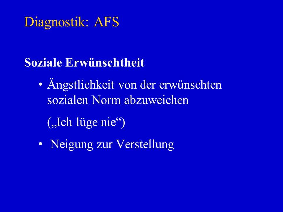 Diagnostik: AFS Soziale Erwünschtheit