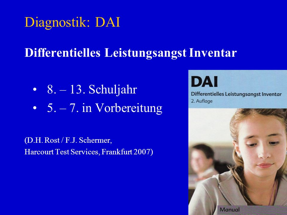 Diagnostik: DAI Differentielles Leistungsangst Inventar