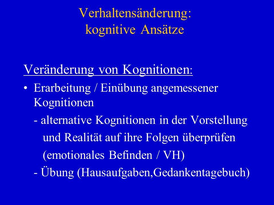 Verhaltensänderung: kognitive Ansätze