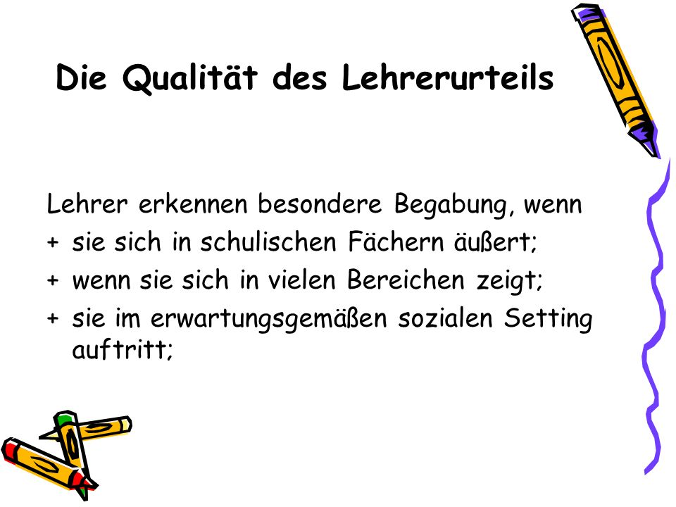 Die Qualität des Lehrerurteils
