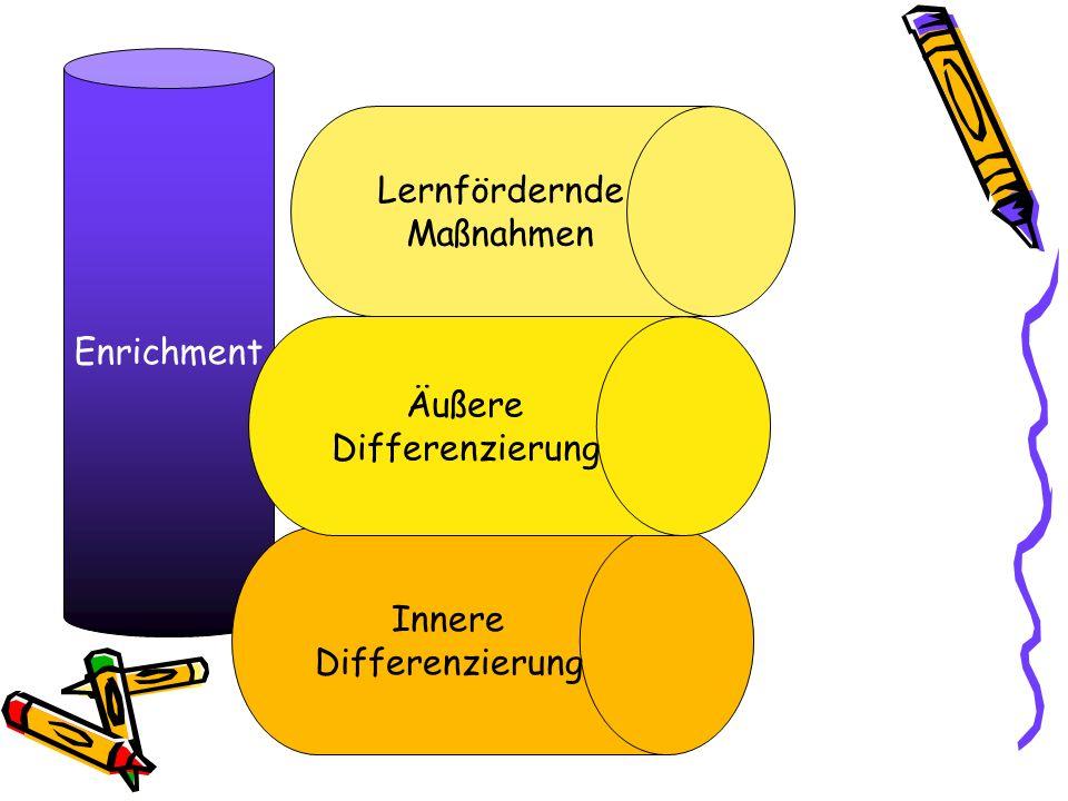 Enrichment Lernfördernde Maßnahmen Äußere Differenzierung Innere Differenzierung
