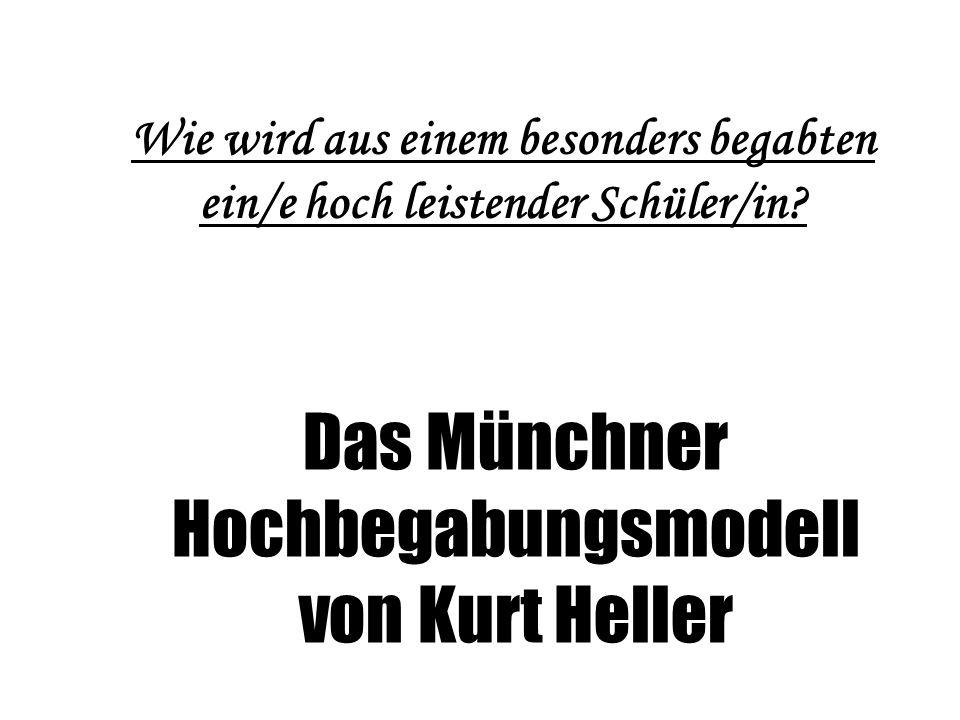 Das Münchner Hochbegabungsmodell von Kurt Heller