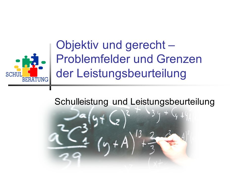 Schulleistung und Leistungsbeurteilung
