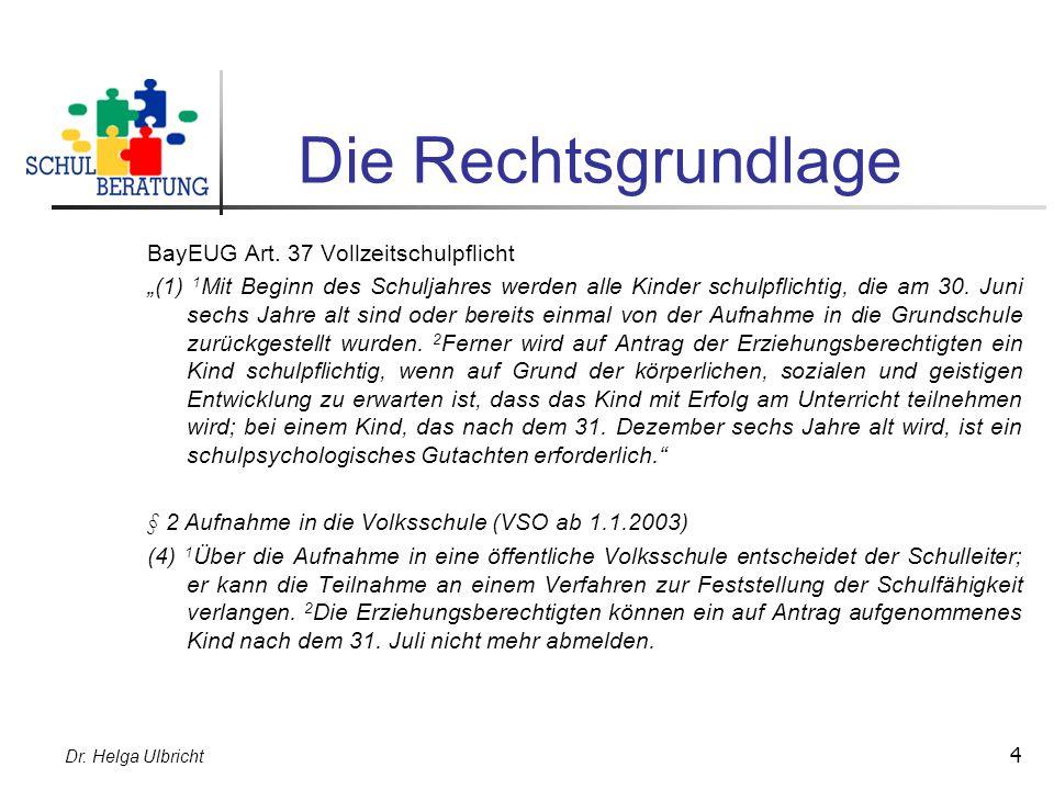 Die Rechtsgrundlage BayEUG Art. 37 Vollzeitschulpflicht