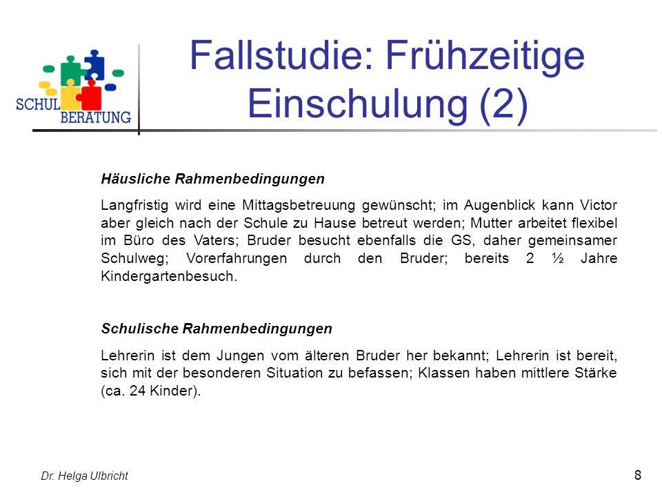 Fallstudie: Frühzeitige Einschulung (2)