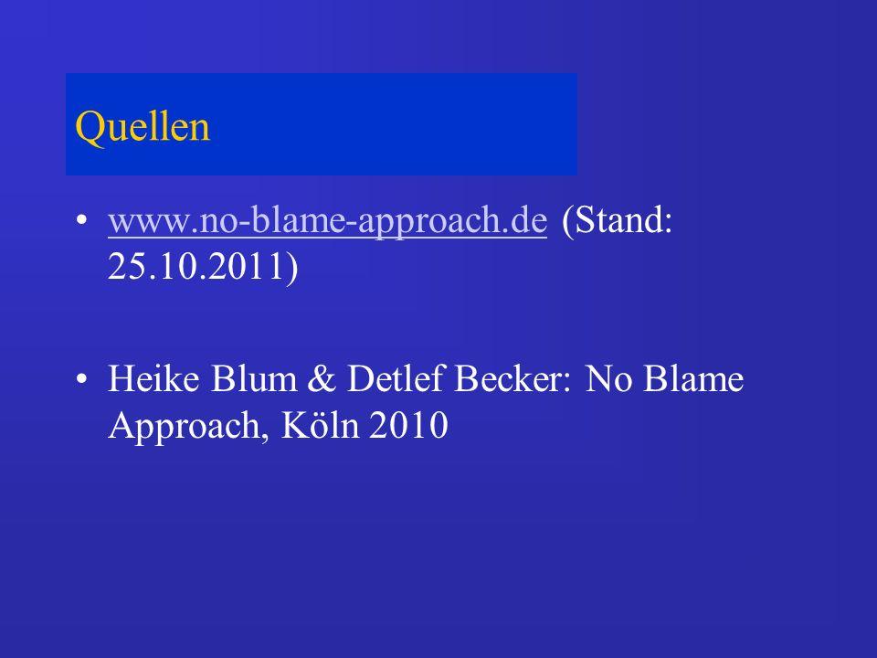 Quellen www.no-blame-approach.de (Stand: 25.10.2011)